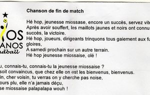 Les paroles de la chanson du club !