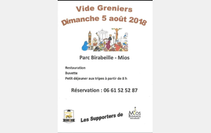 Vide greniers des supporters